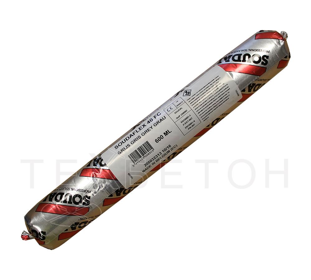 Герметик Soudaflex 40 FC полиуретановый для наружных работ (цвет: серый, фасовка: 600 мл)