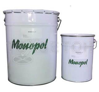 Monopol (Россия) Полимерное покрытие Monopol 3 ЭП двухкомпонентное тонкослойное эпоксидное (цвет: медно-коричневый RAL 8004; фасовка: 30 кг)